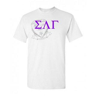 Sigma Lambda Gamma Greek Crest - Shield T-Shirt