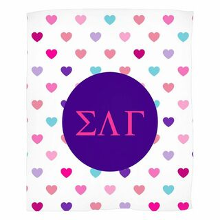 Sigma Lambda Gamma Hearts Fleece Blanket