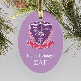 Sigma Lambda Gamma Holiday Color Crest - Shield Ornament