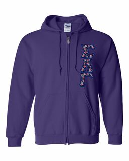 "Sigma Lambda Gamma Lettered Heavy Full-Zip Hooded Sweatshirt (3"" Letters)"