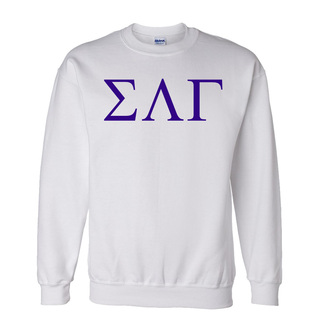 Sigma Lambda Gamma Lettered World Famous Greek Crewneck