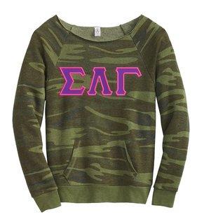 Sigma Lambda Gamma Maniac Camo Fleece Sweatshirt