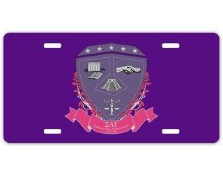 Sigma Lambda Gamma Crest License Plate
