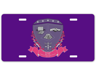 Sigma Lambda Gamma Crest - Shield License Plate