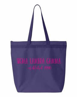 Sigma Lambda Gamma New Established Tote Bag
