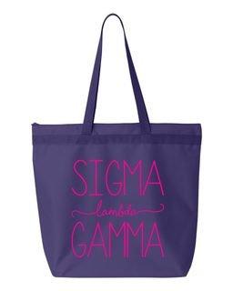Sigma Lambda Gamma New Handwriting Tote Bag