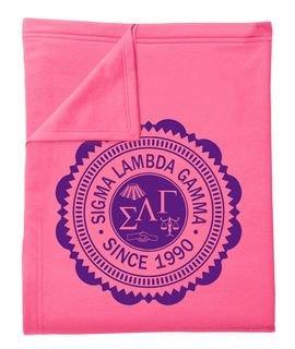 Sigma Lambda Gamma Old School Seal Sweatshirt Blanket