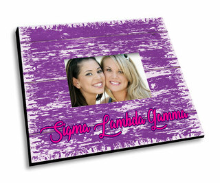 Sigma Lambda Gamma Painted Fence Picture Frame