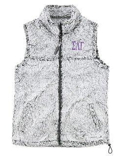Sigma Lambda Gamma Smoky Grey Sherpa Vest