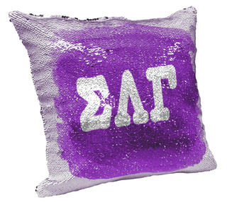 Sigma Lambda Gamma Sorority Flip Sequin Throw Pillow Cover