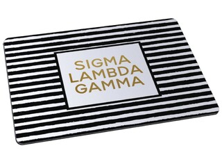 Sigma Lambda Gamma Striped Mousepad