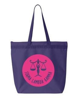 Sigma Lambda Gamma Symbol Circle Mascot Tote Bag