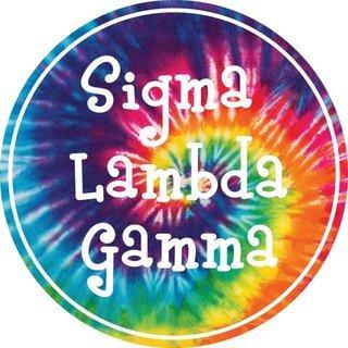 Sigma Lambda Gamma Tie-Dye Circle Sticker