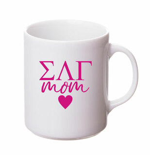 Sigma Lambda Gamma White Personalized Coffee Mug