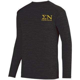 Sigma Nu- $22.95 World Famous Dry Fit Tonal Long Sleeve Tee