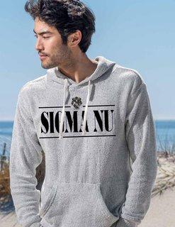 Sigma Nu Line Crest Lucas Loop Fleece Hood
