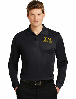 Sigma Nu- $30 World Famous Long Sleeve Dry Fit Polo