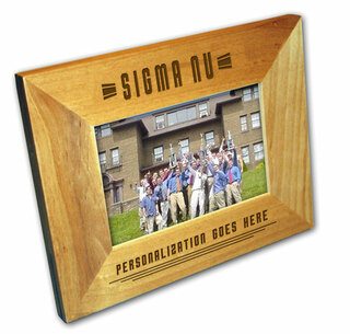 "Sigma Nu 4"" x 6"" Stripes  Custom Picture Frame"