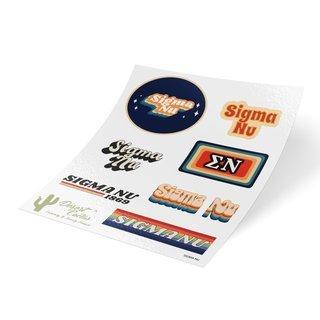 Sigma Nu 70's Sticker Sheet