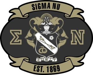 Sigma Nu Banner Crest - Shield Decal