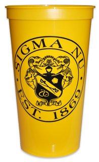 Sigma Nu Big Plastic Stadium Cup