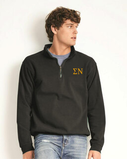 Sigma Nu Comfort Colors Garment-Dyed Quarter Zip Sweatshirt