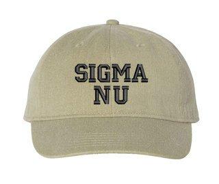 Sigma Nu Comfort Colors Pigment Dyed Baseball Cap