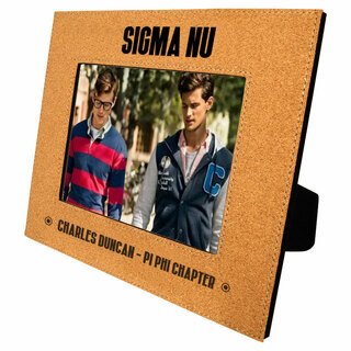 Sigma Nu Cork Photo Frame