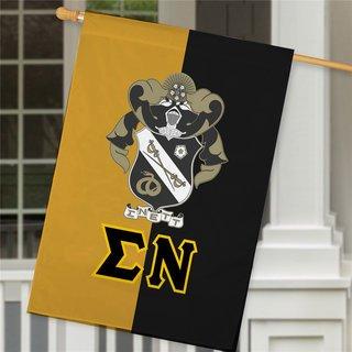Sigma Nu Crest House Flag
