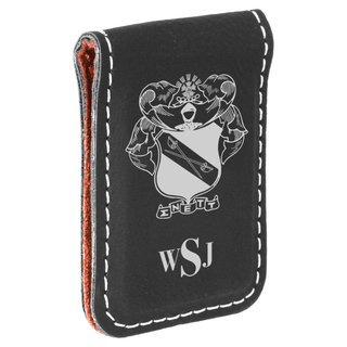 Sigma Nu Crest Leatherette Money Clip