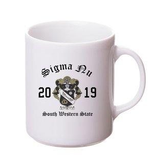 Sigma Nu Crest & Year Ceramic Mug