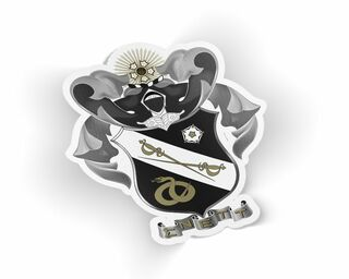 Sigma Nu Die Cut Crest Sticker