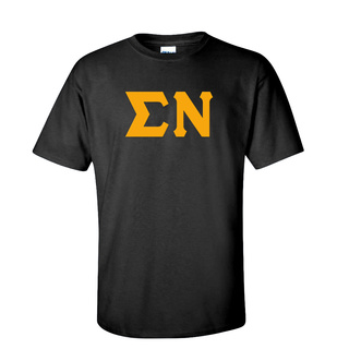 Sigma Nu Discount Twill Lettered Tee