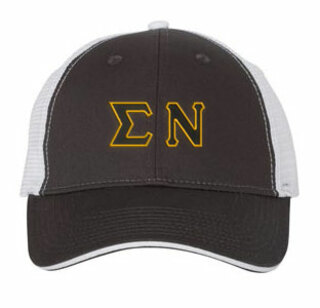 Sigma Nu Double Greek Trucker Cap