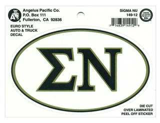 Sigma Nu Euro Decal Oval Sticker