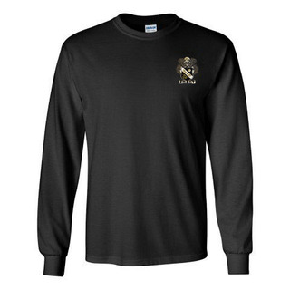 DISCOUNT-Sigma Nu Fraternity Crest - Shield Longsleeve Tee