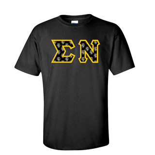 Sigma Nu Fraternity Crest - Shield Twill Letter Tee