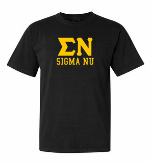 Sigma Nu Greek Custom Comfort Colors Heavyweight T-Shirt