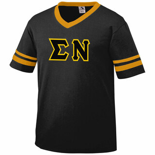 DISCOUNT-Sigma Nu Jersey With Greek Applique Letters