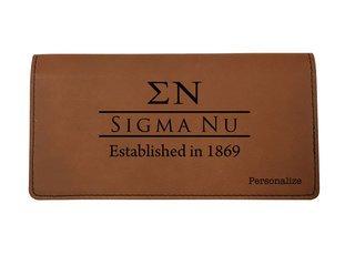 Sigma Nu Leatherette Checkbook Cover