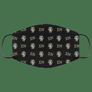 Sigma Nu Letter Crest Face Masks