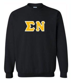 Sigma Nu Sewn Lettered Crewneck Sweatshirt
