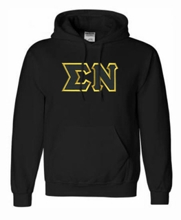 Sigma Nu Lettered Greek Hoodie- MADE FAST!