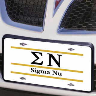 Sigma Nu Lettered Lines License Cover