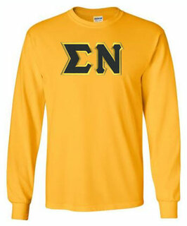 Sigma Nu Lettered Long Sleeve Tee- MADE FAST!