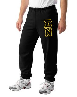 Sigma Nu Lettered Sweatpants