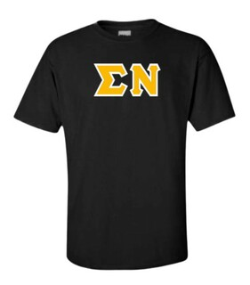 Sigma Nu Sewn Lettered T-Shirt