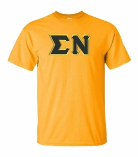 Sigma Nu Lettered T-shirt - MADE FAST!