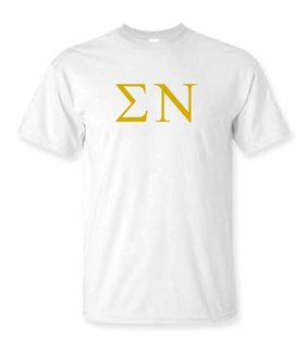Sigma Nu Lettered Tee - $9.95! - MADE FAST!
