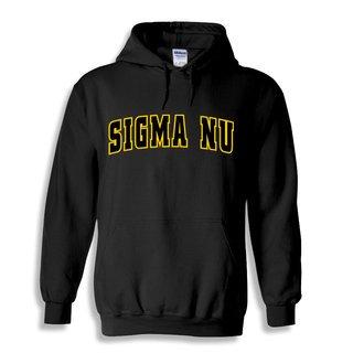 Sigma Nu Letterman Twill Hoodie
